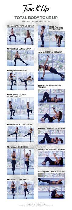 Tone It Up Total Body Tone Up Cheat Sheet!