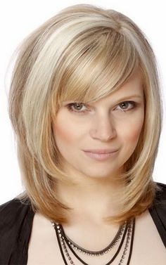 medium length layers with side sweep bangs medium length hairstyles curly and straight