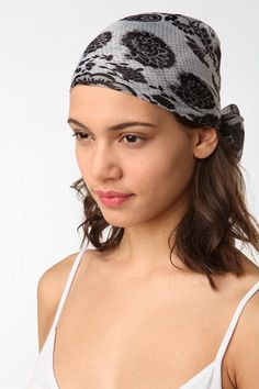 Maybe wear a bandana on the girls this summer To avoid scalp sunburn Scarf Top, Beach Fun, Square Scarf, Silk Scarves, Paisley Print, Urban Outfitters, My Style, Bandana