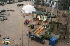Kleines Materiallager im #MediaPark #Alpenzauber #Köln