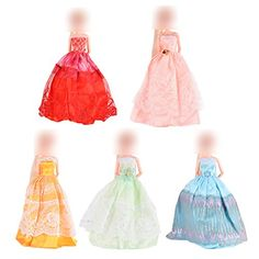 Acetoy Clothes Dresses for Barbie Doll Gorgeous Fashion Handmade Barbie Clothes 12 Inch >>> You can find out more details at the link of the image. (This is an affiliate link) Barbie Toys, Barbie Clothes, Princess Outfits, Princess Clothes, Doll Accessories, Baby Dolls, Dress Outfits, Ballet Skirt, Gowns