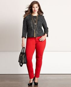 Fall Trend Report Plus Size Tweed Statement Jacket Look - Plus Sizes - Macy's