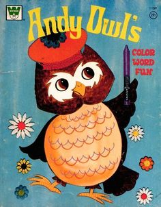 Vintage Coloring Book Andy Owl