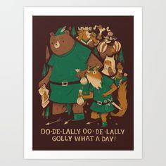 b328b550 A print for fans of Walt Disney's Robin Hood. Dannielle Spokes · LOUIS  ROSKOSCH