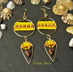 Golden Sun Summer earrings