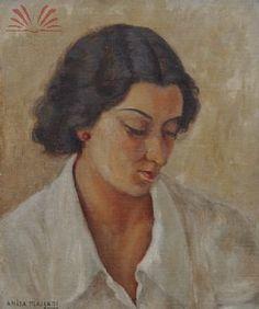 Título :Figura feminina Artista :Annita Catarina Malfatti - Anita Malfatti - Anita Malfati Ano :1929 Técnica :Óleo sobre tela colado em eucatex Dim. :40 x 33 cm