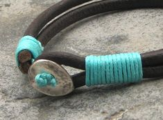 FREE SHIPPING. Unisex leather bracelet. Multi strap by eliziatelye