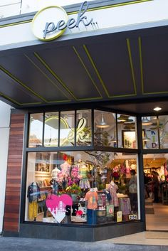 Chestnut St. store front -I liked the clean use of metal and wood for this SFront as well as a simple canopy.