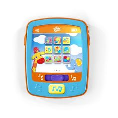 $26.20-$10.99 Baby ABC's, 123's and more. This interactive activity toy will keep baby entertained with tons of fun features. Introduces baby to animals, shapes, colors, numbers and more. Large, soft buttons on fabric screen are easy for baby to press. Features 5 colorful lights that dance across the screen.