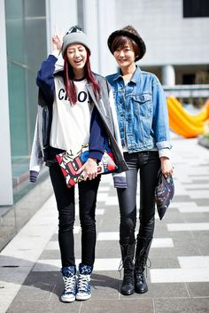 The echeveau: On the street... Lee Songyi & Ryu Yehee Seoul fash...