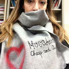Moschino skarf by Maria Elena