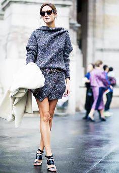 Get the look: Céline sunglasses; Isabel Marant coat; Stella McCartney dress; Isabel Marant belt; Roger Vivier sandals.