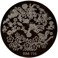 Bundle Monster Image Plate #BM-716: Full Nail, Plants, Flowers, Free Shipping at Nail Polish Canada