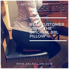 We offer the Most Comfortable & Durable Butt Pillow you will ever find 👑Our BBL Pillow is an effective solution that allows you to sit without putting pressure on your butt so you can continue enjoying your life! ✔️Plus it comes with a black discrete carrying bag! ______________________________________________👉Grab one now on our site www.BBLPILLOW.com or at AMAZON.COM Customer Feedback, Enjoy Your Life, Chevrolet Logo, Things To Come, Pillows, Amazon, Bag, Bed Pillows, Purse