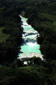 Cascadas de Agua Azul en Chiapas #viajadiferente #chiapas