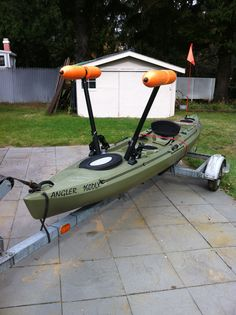New Outriggers installed from Yak Gear.  Easy install great for standing and fishing.