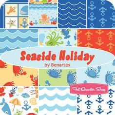 Seaside Holiday Yardage  Benartex Fabrics   Seaside Holiday Yardage will be $10.50 per yard.  Panel will be $7.50 per panel.    Expected shipment date of May 2012.