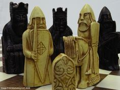 Isle of Lewis Plain Theme Chess Set. I've always wanted a Medieval chess set.