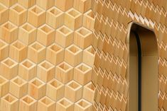 Klein Dytham Architecture creates intricate wooden shop front for Cartier Cartier Store, Wooden Facade, Osaka Japan, Facade Architecture, Wooden Blocks, Cool Walls, Textures Patterns, Create, Gallery