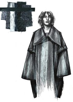 Fashion Sketchbook - fashion illustration & fabric layout; fashion portfolio // Lucy James