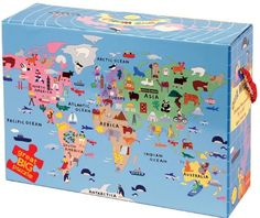 Our World Floor Puzzle - www.wereadbarefoot.com