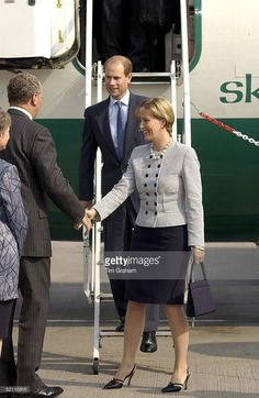Prince Edward The Earl Of Wessex And Sophie Countess Of Wessex Arriving At Ronaldsway Airport On Their Official Visit To The Isle Of Man.