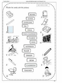 Atividades de Inglês: SCHOOL