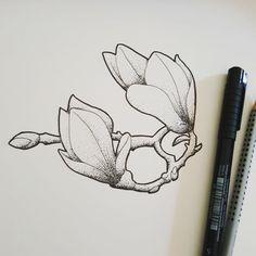Fresh WTFDotworkTattoo Find Fresh from the Web Little magnolia. #art #neotraditional #ink #dotwork #tattoo #minimal #nature #student #artwork #artistsonig #flower #xcasketnailxhatzeichenauftrag #illustration #flowers #blüten #blackandwhite #beautiful #spring #fabercastell #pittartist #pittartistpen #tusche xcasketnailx WTFDotWorkTattoo