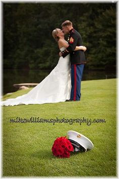 We <3 our military wedding couples! Photo credit: Mike Williams Photography