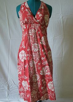 Tommy Hilfiger red and white halter dress size S Tommy Hilfiger red and white floral beachy halter dress.  Perfect for summer. Worn a few times (once for pictures on the beach!  Great condition. Tommy Hilfiger Dresses