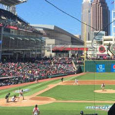 April 5, 2016 - Opening Day at Progressive Field, the home of the Cleveland Indians.