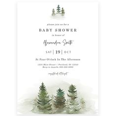 Rustic Baby Shower Invitation | Forever Your Prints