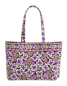 Vera Bradley East West tote in Plum Petals - big enough for a netbook, but small enough to look stylish.