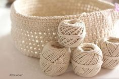 Crochet rope basket {the big model} - AtelierNat -Creative design & creative leisure-, Crochet Stitches Free, Crochet Diy, Crochet Rope, Crochet Gifts, Free Knitting, Baby Knitting, Crochet Patterns, Rug Patterns, Macrame Patterns