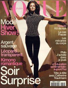 Carmen Kass en couverture du Vogue Paris de novembre 1997 http://www.vogue.fr/thevoguelist/carmen-kass/28