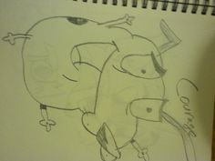 Courage the cowardly dog. by Kim