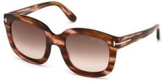 Tom Ford FT0279 CHRISTOPHE Sunglasses shiny dark brown / gradient