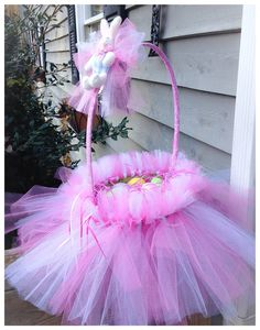 Girls Tutu Easter Basket  by LaceBarn on Etsy, $30.00