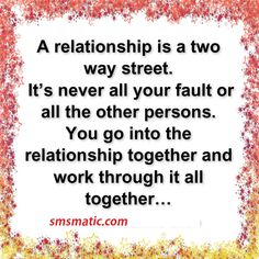 A relationship is a two way