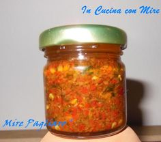 Home-made spicy Calabrian - Piccantino calabrese-Home made Almond Paste Cookies, Pesto Dip, Food & Wine Magazine, Homemade Seasonings, World Recipes, Stuffed Hot Peppers, Italian Recipes, Creme, Food And Drink