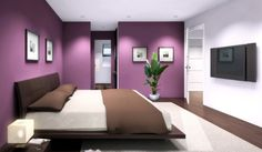 muur schilderen in violet