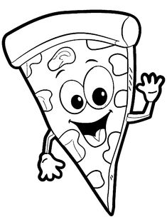 Free Clip art of Pizza Clipart Black and White #453 Best