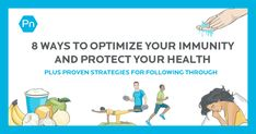 Use these daily habits to help reduce your exposure to pathogens, optimize your immune function over time, and better prepare your body to fight off foreign invaders. Health Plus, Precision Nutrition, Meta Analysis, Complex Systems, Stress Management, Physical Activities, Immune System, How To Stay Healthy, Infographic