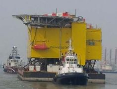 WAGENBORG BARGE 7 departed from Bremerhaven loaded with the Meerwind Substation
