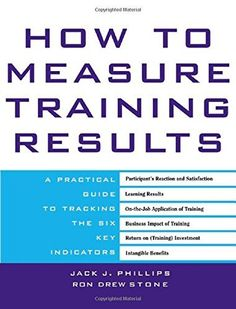 How to Measure Training Results : A Practical Guide to Tracking the Six Key Indicators, http://www.amazon.com/dp/0071387927/ref=cm_sw_r_pi_awdm_UXvYwb14QT2RY
