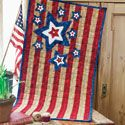 A Banner Day: Patriotic Red White and Blue Star Wall Quilt Pattern, fully patterned in McCall's Quilting July/August 2012 issue.