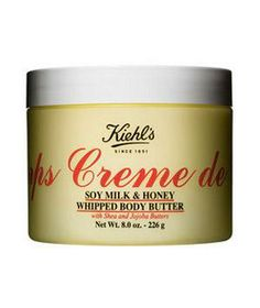 Kiehl's Creme de Corps Soy Milk & Honey Whipped Body Butter: Deliciously fragranced, this body butter is air-whipped so it's lightweight and sinks into the skin easily.