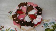 Tutorial: Fettine di torta in pannolenci   <3