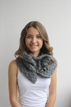 This beautiful knitted scarf is perfect for the changing weather, and will be fun to wear all season long.    This cowl is cozy and stylish.It s very