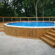 18x33 Semi Inground Pool With Deck Brothers 3 Pools